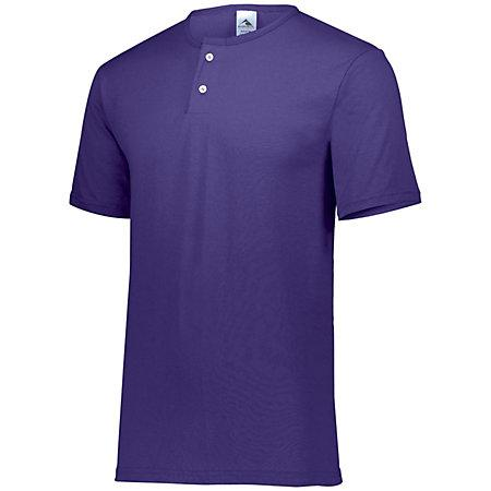 Two-Button Baseball Jersey Purple Adult