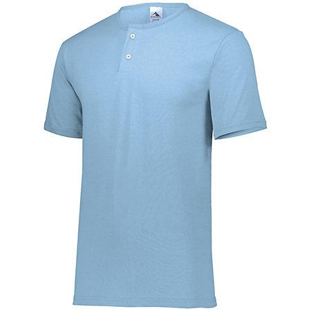 Two-Button Baseball Jersey Light Blue Adult