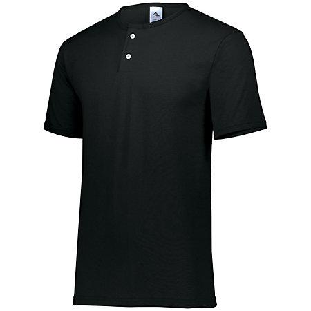 Two-Button Baseball Jersey Black Adult