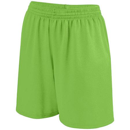Girls Shortwave Shorts Lime/white Softball