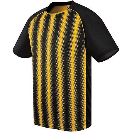 Youth Prism Soccer Jersey Black/athletic Gold Single & Shorts