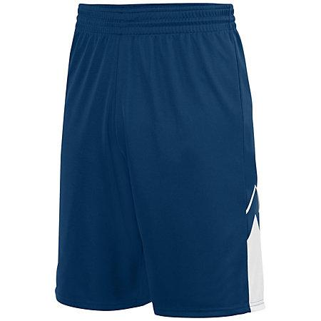 Shorts reversibles Alley-Oop Jersey de baloncesto adulto azul marino / blanco Single &