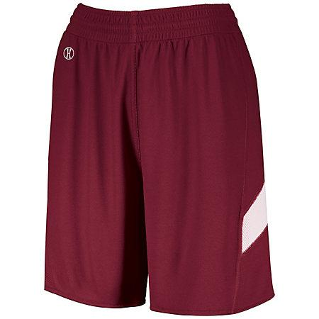 Ladies Dual-Side Single Ply Shorts Cardinal/white Basketball Jersey &