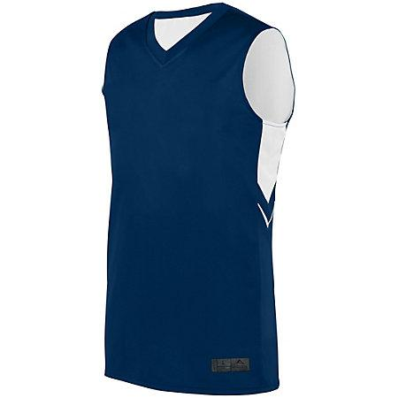 Alley-Oop Reversible Jersey Navy/white Adult Basketball Single & Shorts