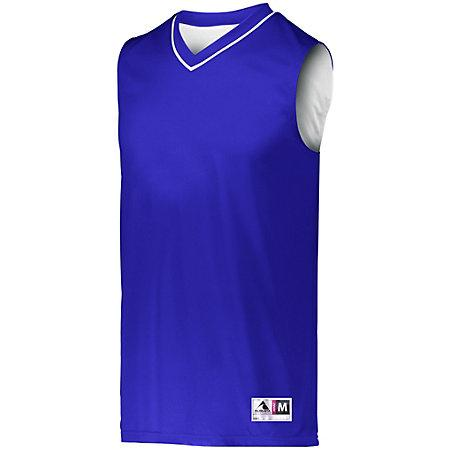 Reversible Two Color Jersey Purple/white Adult Basketball Single & Shorts
