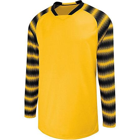 Youth Prism Goalkeeper Jersey Athletic Gold/black Single Soccer & Shorts