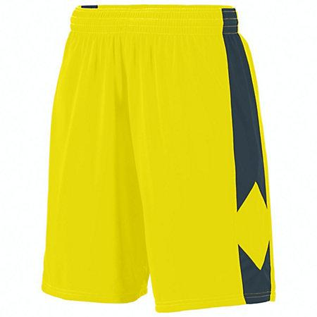 Youth Block Out Shorts Power Yellow/slate Basketball Single Jersey &