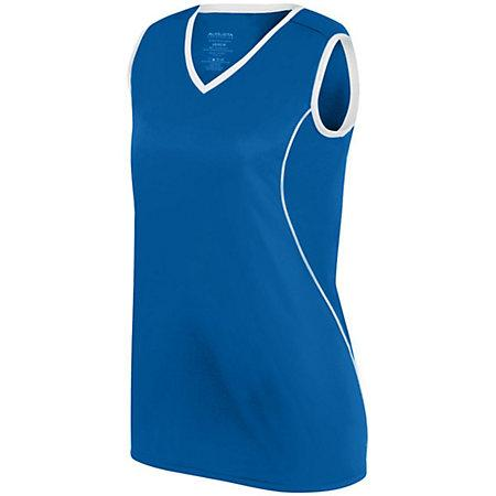 Ladies Firebolt Jersey Royal/white Softball