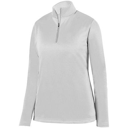 Ladies Wicking Fleece Pullover White Basketball Single Jersey & Shorts