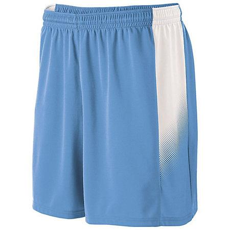 Youth Ionic Shorts Columbia Blue/white Single Soccer Jersey &
