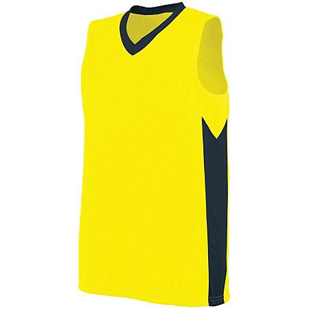Ladies Block Out Jersey Power Yellow/slate Basketball Single & Shorts