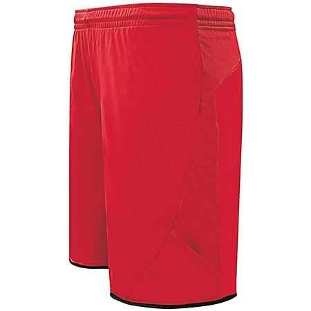 Club Shorts Scarlet/black Adult Single Soccer Jersey &