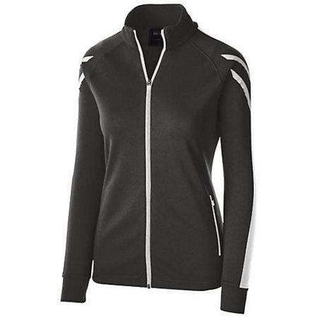 Ladies Flux Jacket Black Heather/white/white Softball