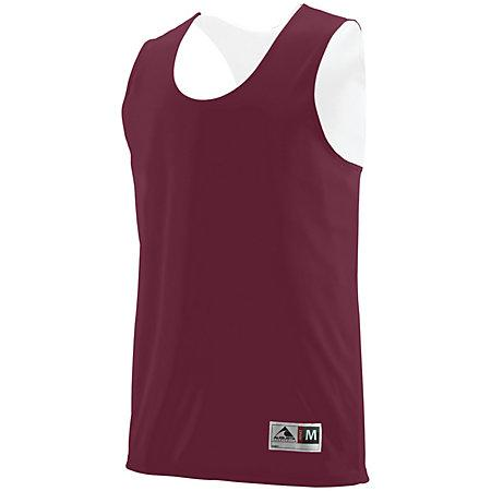 Youth Reversible Wicking Tank Maroon/white Basketball Single Jersey & Shorts
