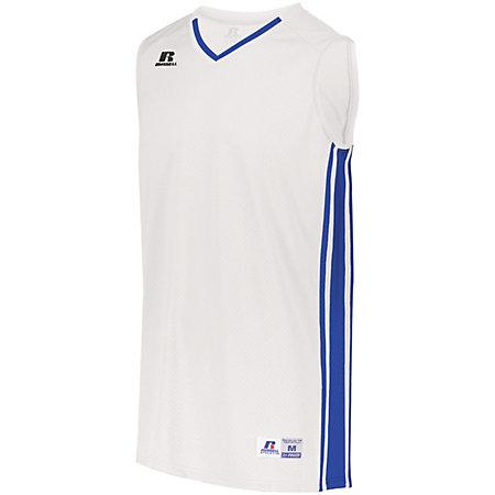 Youth Legacy Basketball Jersey White/royal Single & Shorts
