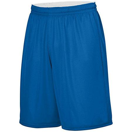 Youth Reversible Wicking Shorts Royal/white Basketball Single Jersey &