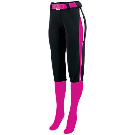 Ladies Comet Pant Black/power Pink/white