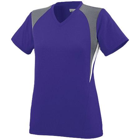 Ladies Mystic Jersey Purple/graphite/white Softball