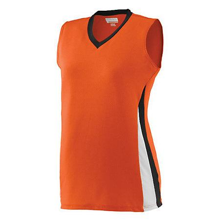 Ladies Tornado Jersey Orange/black/white Softball