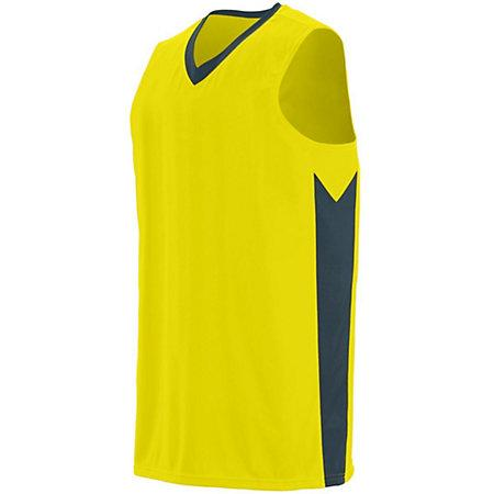 Youth Block Out Jersey Power Yellow/slate Basketball Single & Shorts
