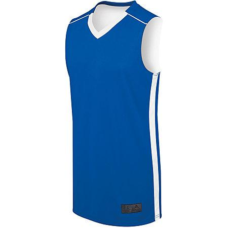 Ladies Competition Reversible Jersey Royal/white Basketball Single & Shorts