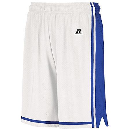 Youth Legacy Basketball Shorts White/royal Single Jersey &