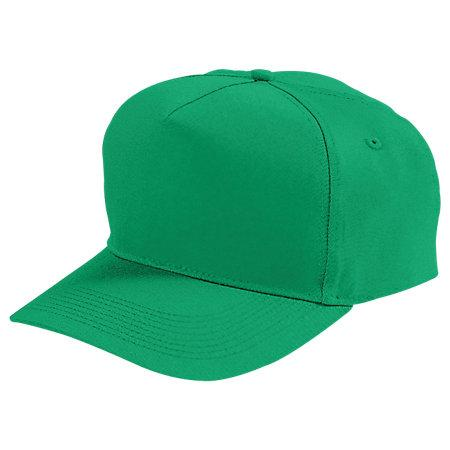 Five-Panel Cotton Twill Cap Kelly Adult Baseball