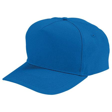 Five-Panel Cotton Twill Cap Royal Adult Baseball