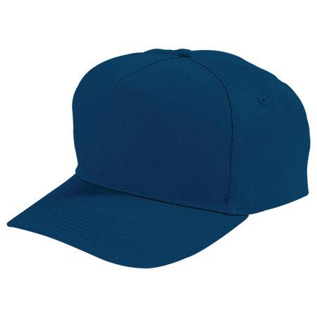 Five-Panel Cotton Twill Cap Navy Adult Baseball