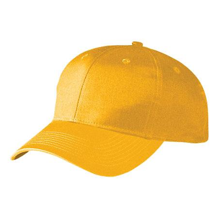 Six-Panel Cotton Twill Low-Profile Cap Gold Adult Baseball