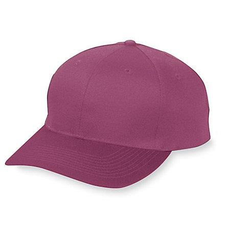 Six-Panel Cotton Twill Low-Profile Cap Maroon Adult Baseball