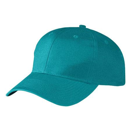 Six-Panel Cotton Twill Low-Profile Cap Teal Adult Baseball
