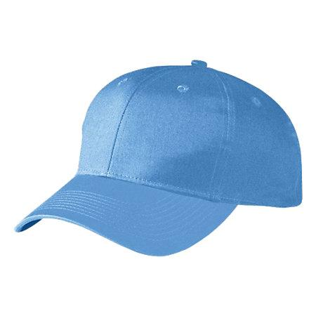 Six-Panel Cotton Twill Low-Profile Cap Columbia Blue Adult Baseball