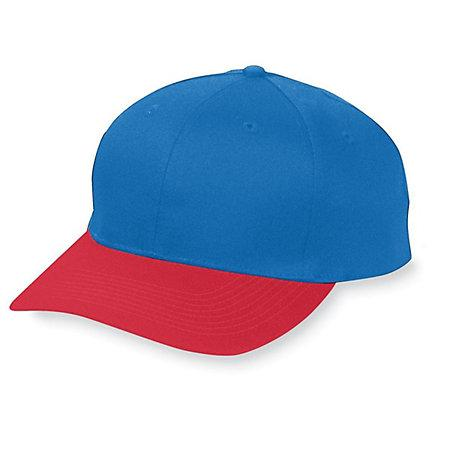 Six-Panel Cotton Twill Low-Profile Cap Navy/red Adult Baseball