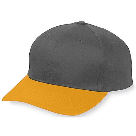 Six-Panel Cotton Twill Low-Profile Cap Black/gold Adult Baseball