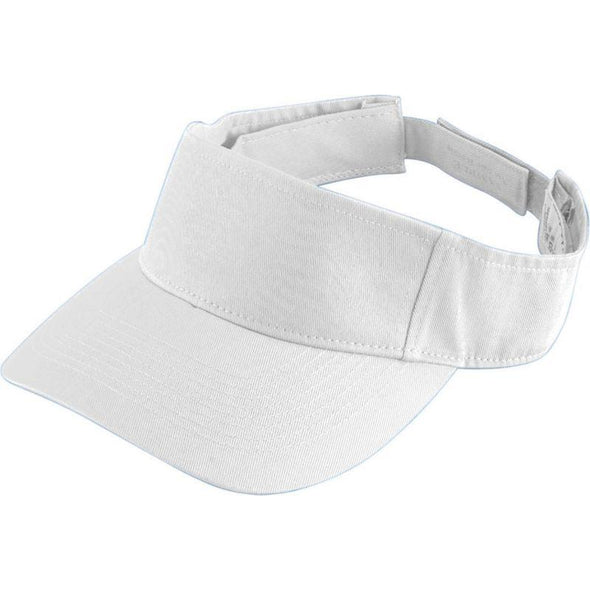 Youth Sport Twill Visor White Baseball