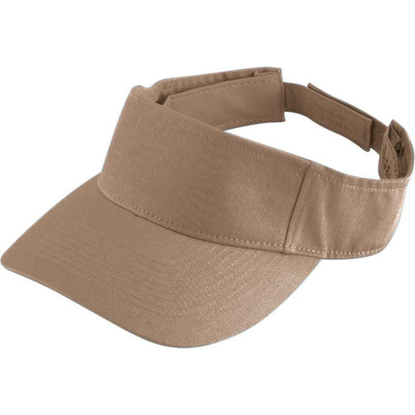 Youth Sport Twill Visor Khaki Baseball