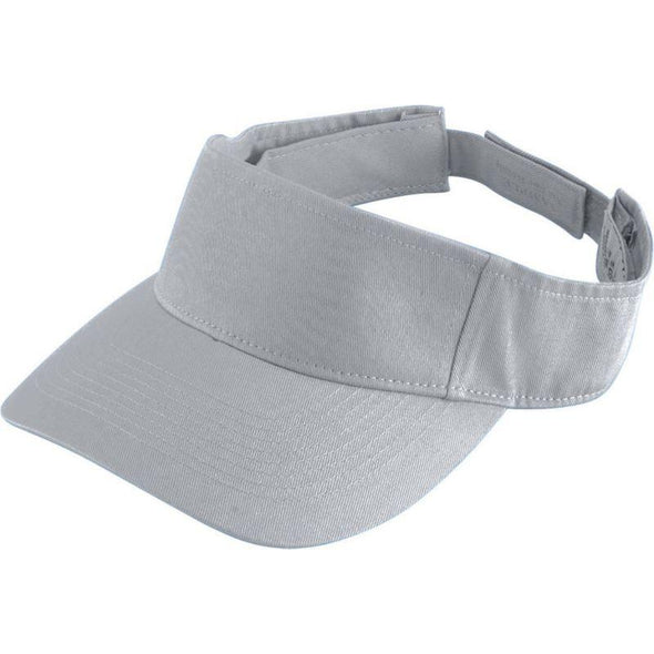 Youth Sport Twill Visor Silver Grey Baseball