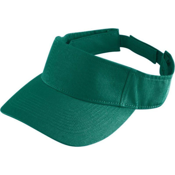 Youth Sport Twill Visor Dark Green Baseball