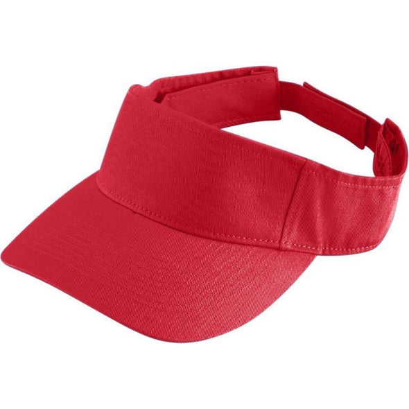 Youth Sport Twill Visor Red Baseball
