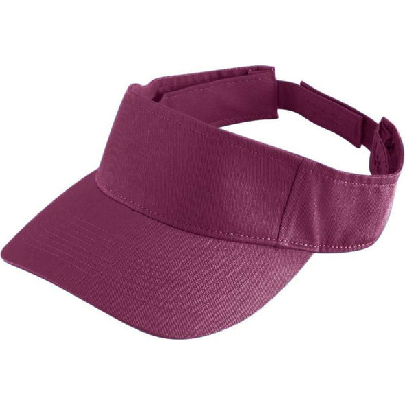 Youth Sport Twill Visor Maroon Baseball