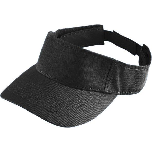 Youth Sport Twill Visor Black Baseball