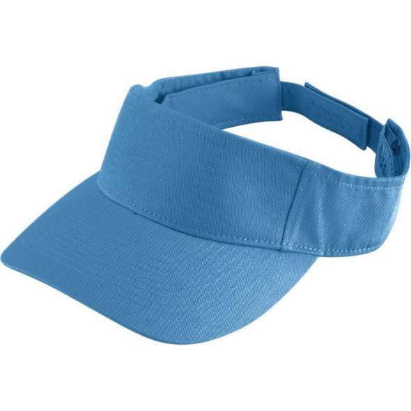 Youth Sport Twill Visor Columbia Blue Baseball