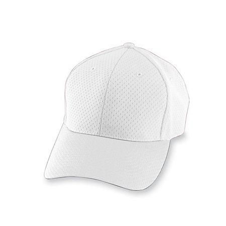 Athletic Mesh Cap White Adult Baseball