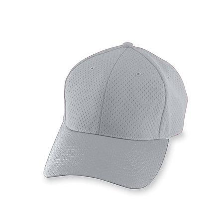 Athletic Mesh Cap Silver Grey Adult Baseball
