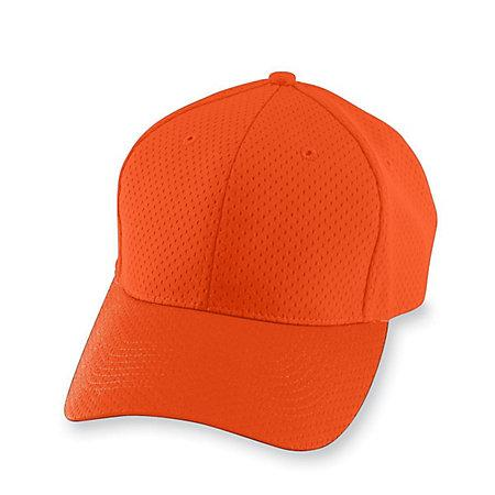 Athletic Mesh Cap Orange Adult Baseball