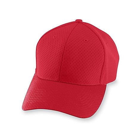 Athletic Mesh Cap Red Adult Baseball