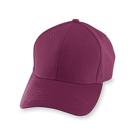 Athletic Mesh Cap Maroon Adult Baseball