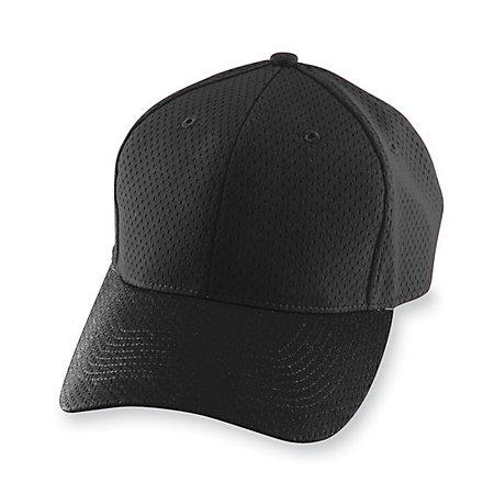 Athletic Mesh Cap Black Adult Baseball