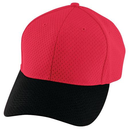 Athletic Mesh Cap Red/black Adult Baseball